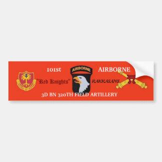 el 3ro 320o rojo de la artillería Knights a la peg Pegatina Para Auto