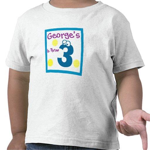 el 3ro cumpleaños del bebé, bebé tercer camisetas