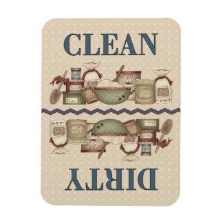 El 3x4 limpio/sucio de la abuela adentro imán rectangular
