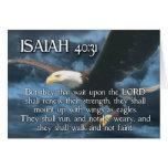 El 40:31 de ISAÍAS monta para arriba con las alas  Tarjetas