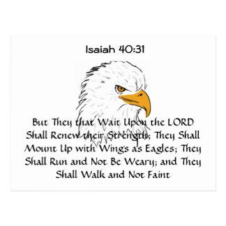 El 40:31 de Isaías monta para arriba en las alas Postal