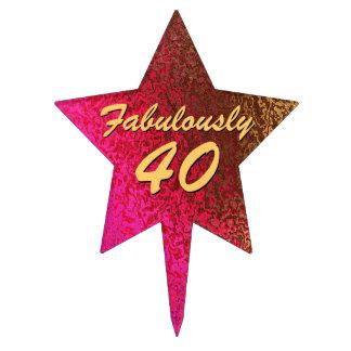 El 40.o cumpleaños de la señora atractiva decoraciones de tartas