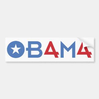 El 44.o presidente, Barack Obama, parachoque rojo Pegatina Para Auto