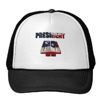 El 44.o presidente gorros