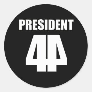 El 44.o presidente White en negro Etiqueta Redonda