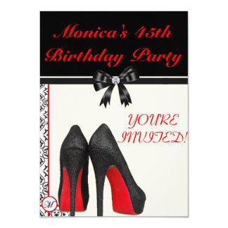 """El 45.o cumpleaños de Mónica invita Invitación 4.5"""" X 6.25"""""""
