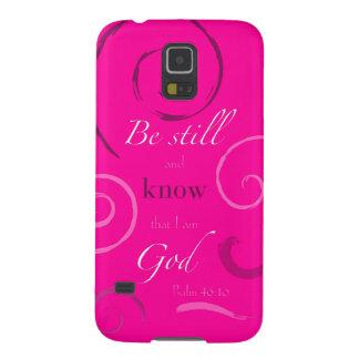 ¡El 46:10 del salmo elige su propio color! Persona Carcasa De Galaxy S5