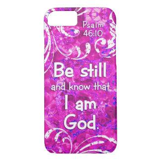 El 46:10 del salmo todavía esté y sabe - cita del funda iPhone 7
