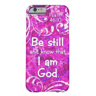 El 46:10 del salmo todavía esté y sabe - cita del funda para iPhone 6 barely there