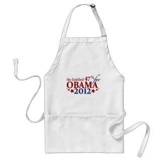 El 47 dado derecho para Obama 2012 Delantal
