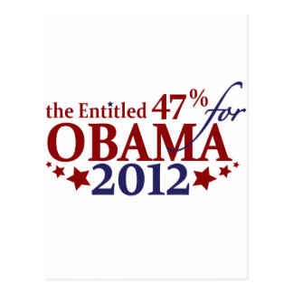 El 47% dado derecho para Obama 2012 Postales