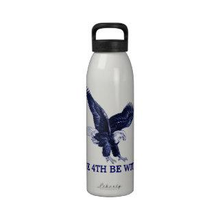 el 4 de julio botella de beber