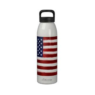 el 4 de julio botella de agua reutilizable
