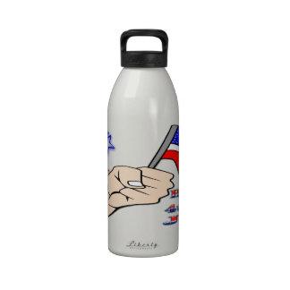 el 4 de julio - dé llevar a cabo la libertad Bottl Botallas De Agua