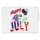 El 4 de julio, día de independencia felicitación