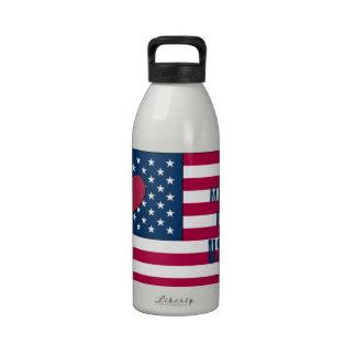 el 4 de julio hizo en productos de los E.E.U.U. Botella De Agua Reutilizable