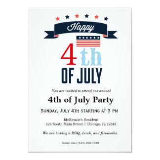 """el 4 de julio invitación 5"""" x 7"""""""
