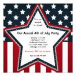 el 4 de julio invitación personalizada