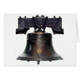 el 4 de julio Liberty Bell Tarjeta De Felicitación