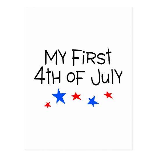 el 4 de julio mi primer el 4 de julio (estrellas) tarjeta postal