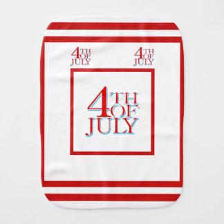 el 4 de julio - paños para bebé