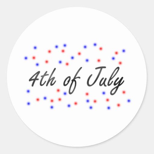 el 4 de julio pegatina redonda