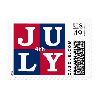 el 4 de julio sello