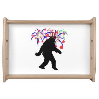 el 4 de julio Squatchin w/Fireworks Bandejas