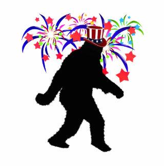 el 4 de julio Squatchin w/Fireworks Fotoescultura Vertical