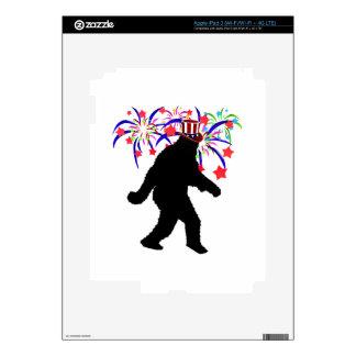 el 4 de julio Squatchin w/Fireworks iPad 3 Pegatinas Skins