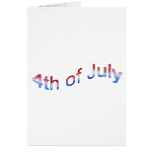 el 4 de julio tarjeta de felicitación
