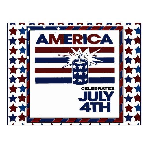 el 4 de julio tarjetas postales