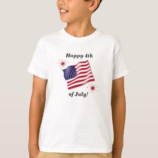 El 4to feliz del niño de la camisa de julio