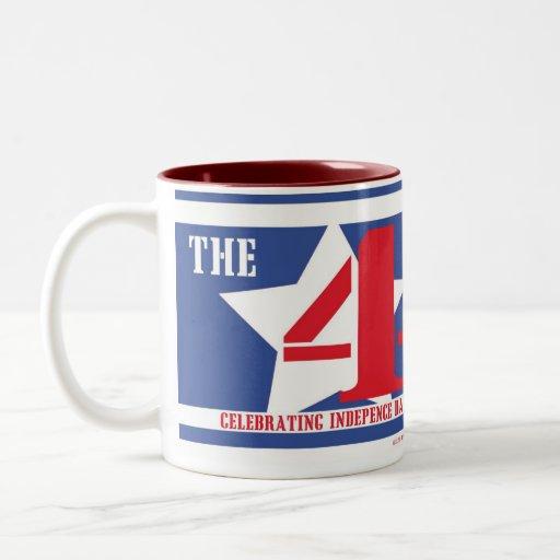 El 4tos (zurdo) taza de dos tonos