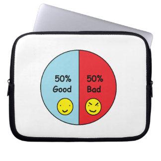 El 50% bueno y mún gráfico de sectores del 50% funda portátil