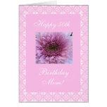 El 50.o cumpleaños de la madre subió tarjeta de felicitación
