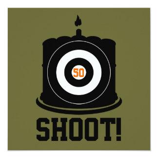 El 50.o cumpleaños del buen tirador - invitación