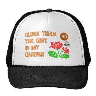 El 50.o cumpleaños del jardinero gorros bordados