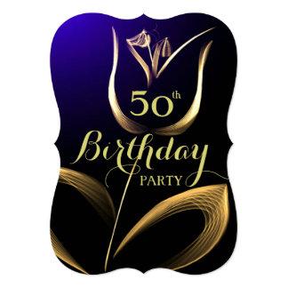 """El 50.o cumpleaños del personalizado invita - al invitación 5"""" x 7"""""""