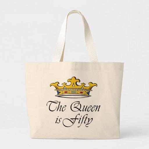 ¡el 50.o cumpleaños la reina es 50! bolsa de mano