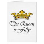 ¡el 50.o cumpleaños la reina es 50! felicitación