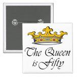 ¡el 50.o cumpleaños la reina es 50! pin