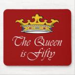 ¡el 50.o cumpleaños la reina es 50! tapete de ratones