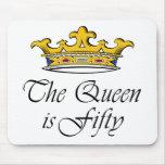 ¡el 50.o cumpleaños la reina es 50! tapete de raton