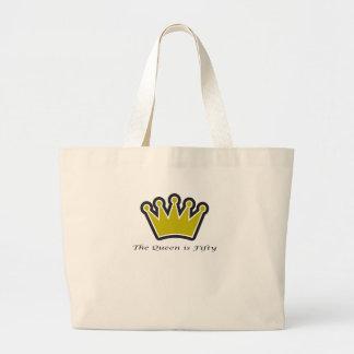 ¡el 50 o regalo de cumpleaños la reina es la coro bolsas