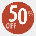 El 50% potente de la muestra de la VENTA - pegatin