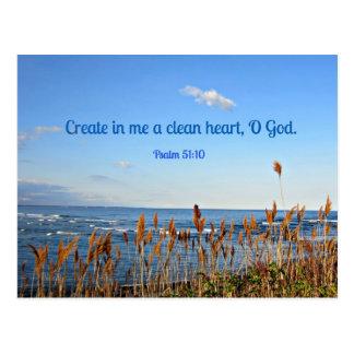 El 51:10 del salmo crea en mí un corazón limpio…. postales