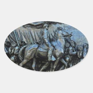 El 54.o regimiento de infantería voluntario de calcomania de ovaladas