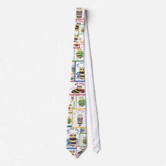 """El 5"""" abeja """" corbata personalizada"""