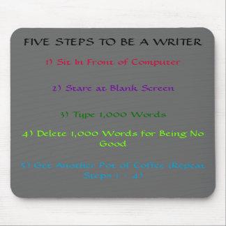 El 5-Steps Mousepad del escritor Tapetes De Ratón